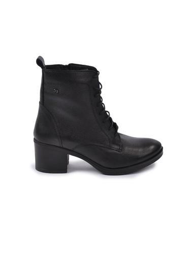 Castle Black 92159-1 Siyah Kadın Bot Siyah